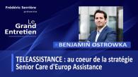 Benjamin Ostrowka est le directeur BU B2C & directeur général La Teleassistance à Europ Assistance France Sommaire de l'émission : – Vision de la téléassistance – Intérêt de la téléassistance...